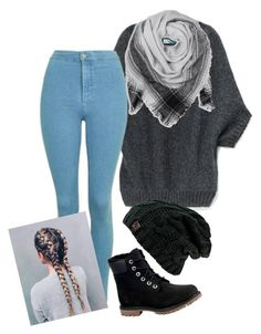 """""""#winter"""" by al4xa ❤ liked on Polyvore featuring Topshop, BeckSöndergaard and Timberland"""