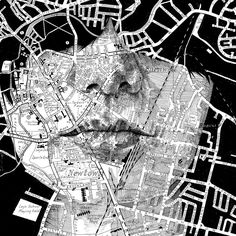 """Another art piece that is literally """"human geography. (c-blank) Human Geographies by Ed Fairburn Geography Map, Human Geography, Ed Fairburn, Map Sketch, Sketches, A Level Art Sketchbook, Art Alevel, Vintage Maps, Human Condition"""