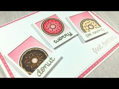 Donut Worry, Be Happy (Get Well Card) | Lawn Fawn and Mama Elephant - YouTube