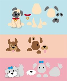 70 Super Ideas for pattern art for kids paper Dog Pattern, Pattern Art, Puppy Crafts, Marianne Design Cards, Dog Quilts, Felt Dogs, Dog Cards, Felt Patterns, Animal Cards