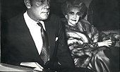 Dec. 26, 2011 - American Millionaire Barbara Hutton is in home for a brief stay. Here is seen in the photos leaving - Stock Photo