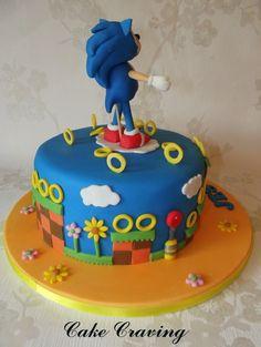 Sonic The Hedgehog Sonic Birthday Cake, Sonic Birthday Parties, 6th Birthday Cakes, Sonic Party, Birthday Cake Girls, Bolo Sonic, Sonic Cake, Fondant Cakes, Cupcake Cakes
