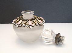 Jeweled Perfume Bottle Decanter With Crystal by ALEXLITTLETHINGS