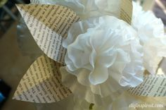 Coffee Filter Paper Flowers // Looks super easy. Wouldn't want to do it for centerpieces, but maybe for aisle decorations?