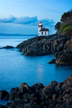 Lime Kiln State Park Lighthouse, San Juan Island, Washington