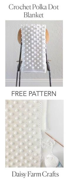 FREE PATTERN - Crochet Polka Dot Blanket - Daisy Farm Crafts