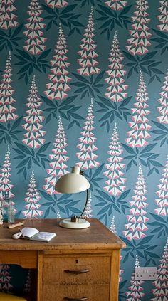 MissPrint wallpaper design: 'Foxglove'