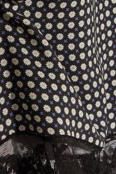Paul & Joe - Lace-trimmed Printed Crepe Dress - Midnight blue - FR34