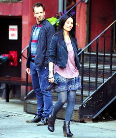 Johnny Lee Miller and Lucy Liu - Elementary Sherlock Holmes Tv Show, Sherlock Holmes Elementary, Holmes Movie, Watson Sherlock, Sherlock Bbc, Lucy Liu Elementary, Elementary Tv Show, Elementary My Dear Watson, Johnny Lee