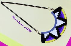 A handmade necklace made of hama beads :) Facebook: Belly Button by Izabela Raunik