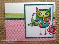 http://www.mischellesmith.com/blog/157-make-it-a-masterpiece, ctmh, close to my heart, what a hoot, owl, twin touch markers, shinhan, copic, card sketch