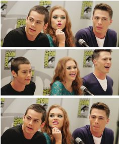 Colton Haynes, Holland Roden and Dylan O'Brien. look at their beautiful funny faces Dylan O'brien, Teen Wolf Dylan, Teen Wolf Actors, Teen Wolf Cast, Stiles, Teen Wolf Funny, Colton Haynes, Scott Mccall, Beautiful Disaster
