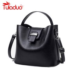 982fc37cf2a8 TuLaDuo Brand Luxury Women s Bag Haspe Bucket Ladies PU Leather Designer Handbags  High Quality Messenger Bags