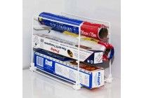Suporte para rolo de papel aluminio, toalha e filme PVC.
