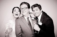 "The adorable couple thanking their dedicated wedding planner. | David Burtka And The Cast Of ""It Shoulda Been You"" Take Cute Wedding GIFs"