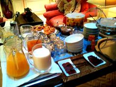 Breakfast buffet at As Janelas Verdes Hotel, Lisbon, Portugal: http://www.europealacarte.co.uk/blog/2012/04/09/janelas-verdes-lisbon/