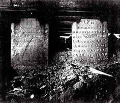 photograph of the tombstones of George Christopher and Dorothy (Doudel) Stoehr. The stones are located in a crawlspace under the former Zion Lutheran Church in York, PA. Gardens Of Stone, York Pa, Lutheran, Ancient History, Pennsylvania, 1930s, Stones, Photograph, Unique