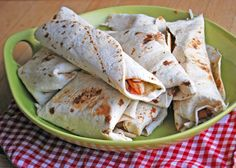 Spicy Thai Chicken Wraps - a Rachel Ray 30 minute meal recipe
