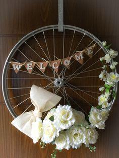 Bicycle Wheel Wreath