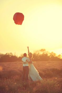 Wedding Sky Lantern Release for my Gramps <3