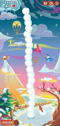 Build Snowman Game by Michie Oliveira, via Behance