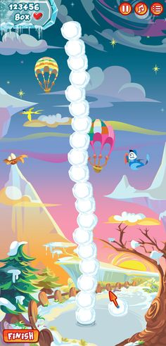 Build Snowman Game by Michie Oliveira, via Behance