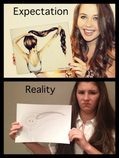 Are you setting up your client's expectations with a bit of reality in them? 33 Instances Of Expectations Vs Reality. Funny Fails, Funny Jokes, Hilarious, Artist Problems, Expectation Reality, Laughing So Hard, Really Funny, I Laughed, Laughter