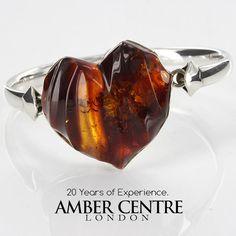 BANGLE LOVE HEART BALTIC AMBER HANDMADE 925 STERLING SILVER BAN097 RRP£595!!!   Jewellery & Watches, Fine Jewellery, Fine Bracelets   eBay!
