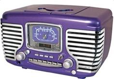 Retro Corsair Purple Radio with Chrome, Alarm Clock and CD Player Purple Love, All Things Purple, Shades Of Purple, Purple Stuff, Frank Lloyd Wright, Art Nouveau, Clock Shop, Old Time Radio, Retro Radios