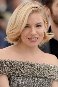 Sienna Miller at the 2015 Cannes jury photocall. Love her hair.