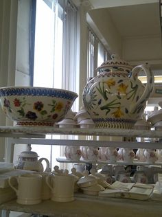 Emma Bridgewater Studio Special Gallon Teapot and Salad Bowl