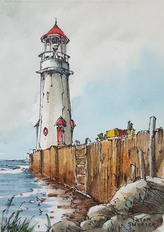 Little x watercolor painting Watercolor Paintings For Beginners, Watercolor Projects, Watercolor Landscape Paintings, Landscape Drawings, Landscape Art, Art Drawings, Watercolor Sketchbook, Watercolor Illustration, Watercolor Art