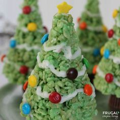 Christmas Tree Rice Krispie Treats from Frugal Coupon Living and Krispie Treats for Every Season and Taste