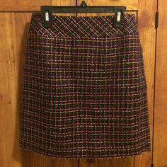 Ann Taylor Loft skirt Ann Taylor Loft petite skirt. Multi color pattern. Size 00p. Never worn. Tags still attached. Selling because it is too big on me. LOFT Skirts Mini