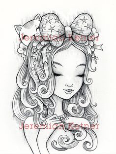 The Great Bow  Digital Coloring page by smallandround on Etsy