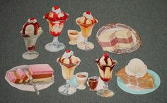 This is a lot of 8 original vintage 1960's die cut ice cream paper signs they are all different sizes from 11 inches to 8 inches and all are in great shape postage 4.00 please check out our other auctions and ebay store for lots of great stuff.