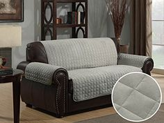 Micro Suede Sofa Furniture Protector Grey    Learn More By Visiting The  Image Link.