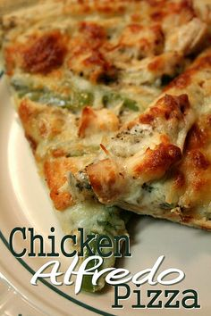 Chicken Alfredo Pizza... I LOVE this pizza!! It is so good!!!!!!