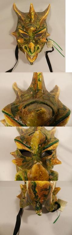 Masks 38235: Si Lucia Italian Venetian Paper Mache Dragon Monster Masquerade Costume Mask-Art -> BUY IT NOW ONLY: $69.99 on eBay!