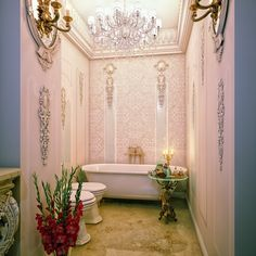 Versailles-style little bathroom