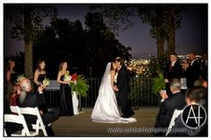 Night wedding at Vulcan Park in Birmingham, AL : Amber Ford Photography