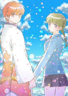 Rinne & Sakura Inuyasha, Tomoe, Rin Ne, Manga Anime, Anime Art, Anime Was A Mistake, Manga Artist, Shinigami, Cute Anime Couples