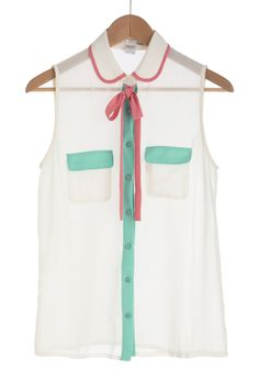 Sweetly sheer with perfect pastels. #style
