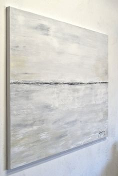 Large Original Landscape Painting Modern Contemporary Art 30 x 40 Gray Taupe Abstract Painting Acrylic by Sky Whitman Blue Abstract, Abstract Wall Art, Large Canvas Art, Oil Painting On Canvas, Oil Paintings, Minimalist Art, Land Scape, Wall Art Prints, Modern Contemporary