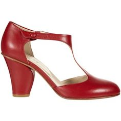 NW3 by Hobbs Amelie T Bar Court Shoes , Fire Brick Red
