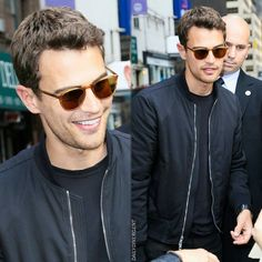 NEW photos of Theo James greeting fans at 'The Late Show With Stephen Colbert' on March 16th in New York City! (HQ) •|• [#theojames]