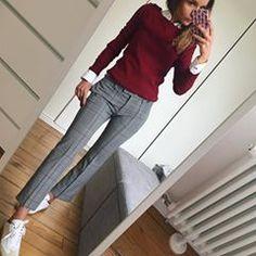 Prince de Galles ✔️ #outfit#outfitoftheday#dailyoutfit#dailylook#instafashion#fashionblogger#fashionpost#fashiondiaries#wiwt#whatiwore#picoftheday pull#sessun chemise#zara pantalon#mango baskets#isabelmarant