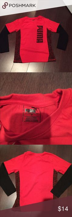 2 Authentic Puma Boys long sleeve shirt size 7 Authentic 2 Puma Boys long sleeve shirt size 7. Red and black Puma Shirts & Tops Tees - Long Sleeve