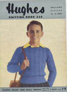 The Vintage Pattern Files: Free 1950's Knitting Patterns - Teenage Patterns Hughes Knitting Book No.230