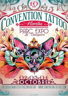 Convention Tattoo Nantes - October 2015 Convention Tatouage, Convention Tattoo, Body Art Tattoos, Tatoos, Tattoo Posters, Alice, October, Coups, Passion